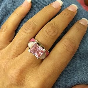 Jewelry - Pink Tourmaline & Sterling Silver Ring sz 7